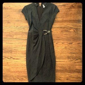 Gray shift dress